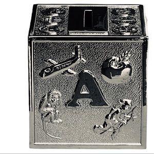 Stainless Steel Retro-Alphabetic Cubic Money Bank